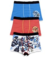 3 Pack Cotton Rich Skylanders Trunks