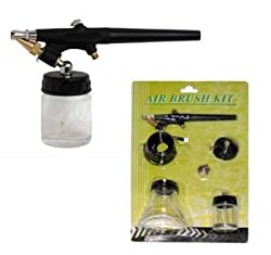 AIRBRUSH SET-KIT-Single Action-Siphon Feed-External Mix-Sunless Tanning