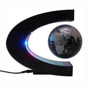 Zuwit Floating Globe With LED Lights Magnetic Field Levitation Floating Globe Home Office Decoration