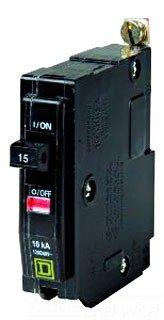 Square D Bolt-On Circuit Breaker, 15 Amp, Qob115