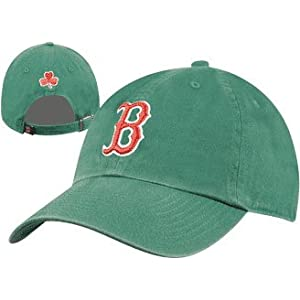 Boston Red Sox Logo Merchandise Green Adjustable Baseball Cap With Shamrock