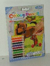 Royal & Langnickel Mini Colour Pencil By Number Kit: 5X7 Puppy & Butterfly