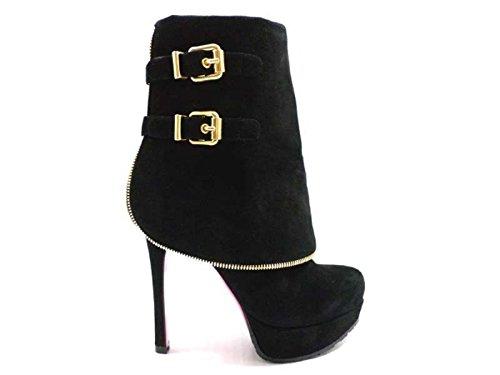 scarpe donna LUCIANO PADOVAN 36,5 EU stivaletti camoscio nero AY627