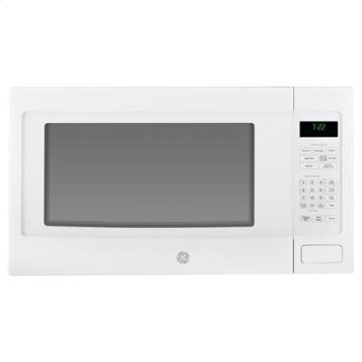 GE PEB7226DFWW Profile 2.2 Cu. Ft. White Countertop Microwave ...