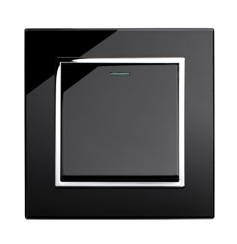 Retrotouch  Stunning Innovative Designer Range 1-Gang Mechanical Light Switch, Black
