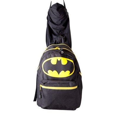 DC-COMICS-Batman-logotipo-grande-con-mochila-integrada-Capucha-Negro