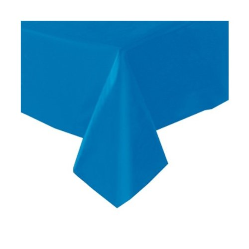 Electric Blue Plastic Tablecover (1ct)