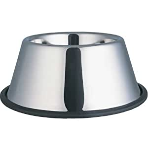 Stainless Steel No Tip Dish 32oz For Long Eared Dogs