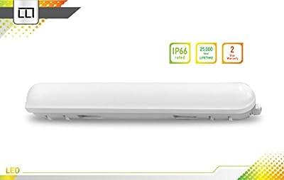LLT LED Garage Vapor Proof Fixture 2ft 18W IP66 3500K/4000K/5000K