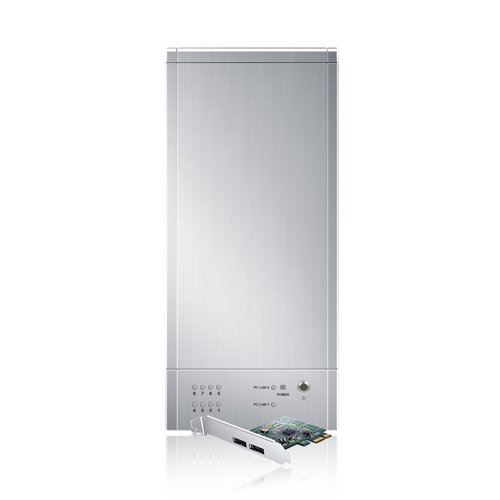 Sans Digital 8-Bay eSATA RAID 0/1/10/5/JBOD Tower Storage Enclosure with 6G PCIe Card TR8M+ (Silver) (Sans Digital 8 Bay compare prices)