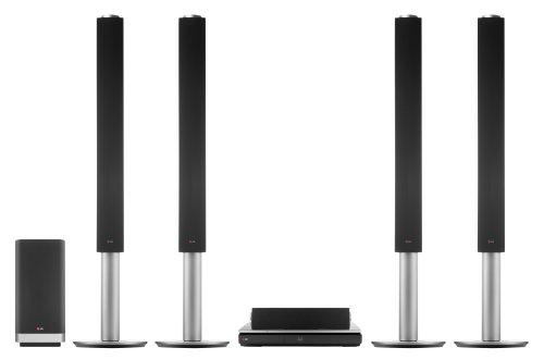 LG BH9540TW 3D Blu-ray 9.1 Heimkinosystem (1460 Watt, Ultra HD Upscaling, WLAN, Smart TV, Bluetooth, drahtlose Rücklautsprecher) schwarz/silber