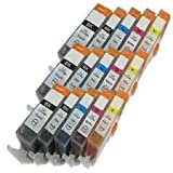 15 New Version Premium Quality High Capacity 100% Compatible ink cartridges for Canon 551XL 550XL Multipack CLI-551 PGI-550 Pixma MG5450 MG6350 IP7250 MX925 Compatible with CLI-551XL BK CMY PGI-550XL BK(3 Small Black large Black 3 Cyan 3 Magenta 3 Yellow)
