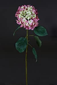 Closer To Nature Artificial 90cm Single Stem Pink Hydrangea - Artificial Luxury Silk Flower Range
