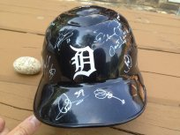 Detroit Tigers team signed helmet Miguel Cabrera Prince Fielder Max Scherzer COA by Planet Signatures