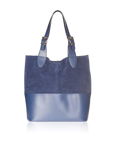 Chiara Morgante Bolso shopping Combinada Azul Única