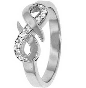 .925 Sterling Silver Promise Ring with Cubic Zirconias