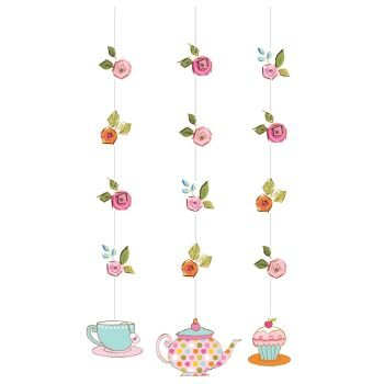 Tea Time Hanging Cutouts Danglers Party Decoration