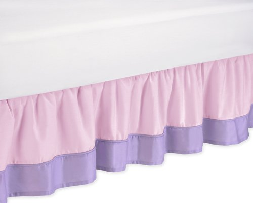 Amazon.com: Pink and Purple Butterfly Queen Bed Skirt by Sweet Jojo Designs: Home & Kitchen