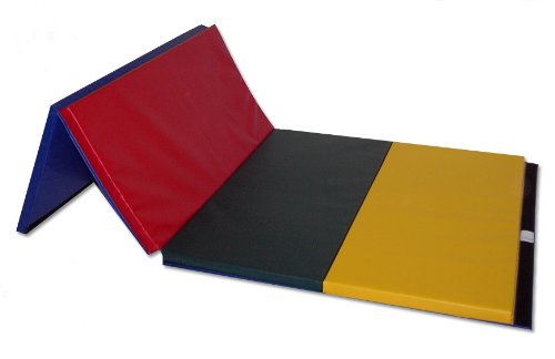 "Folding Panel Gym Mats 4x8 Tumbling Mat 2""Thick-V4 Rainbow"