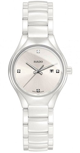 Rado True High-tech White Ceramic Diamond Ladies Watch R27061712