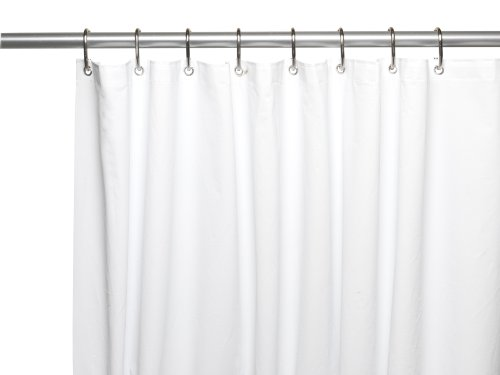 Carnation Home Fashions 10 Gauge PEVA 54 By 78 Inch Shower Curtain Liner Stall Size White