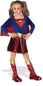 Childs Deluxe Supergirl Costume, Small (Size 4-6) (Ages 3-4)