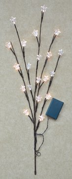 Star Led Lighted Willow Branch Soft White Battery Operated Country Primitive Floral Décor