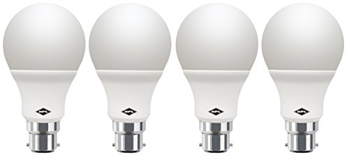 9W LED Bulb (White, Pack of 4)