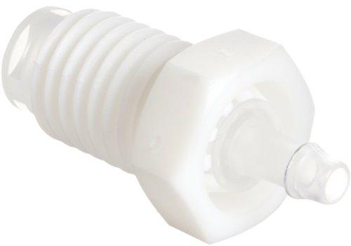 Value Plastics ABR004-6-1 White Nylon and Polypropylene Tube Fitting Barbed
