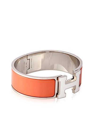 Hermès White/Mango Bracelet Clic H Medium