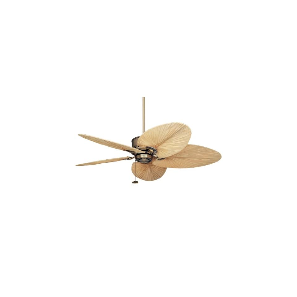Emerson CF2000AB Maui Bay Indoor/Outdoor Ceiling Fan, 52 Inch or 80 Inch Blade Span, Antique Brass Finish
