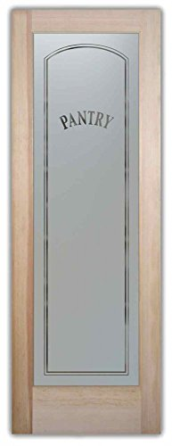 Pantry Door - Sans Soucie Etched Glass Interior Door, Doug Fir, Classic Arch Design 24 in. x 80 in. Book/Slab Door 1-3/8 in. (Interior Glass Slab Door compare prices)