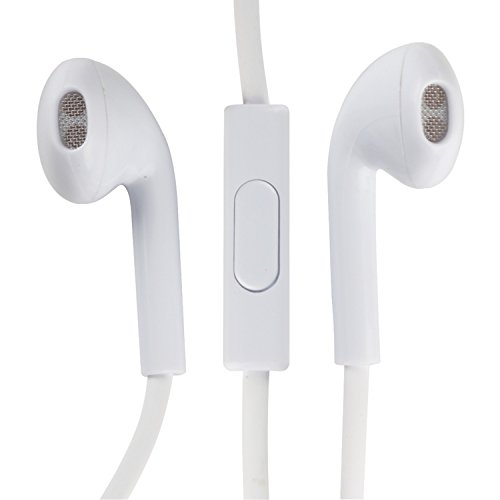 Rca Hp180 Noise-Isolating Earpod Shape Earbuds With In-Line Mic 10Mm Neodymium Drivers (White)