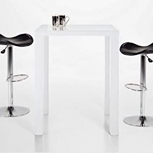 quadratischer bartisch stehtisch ice hochglanz wei 80x80cm k che haushalt. Black Bedroom Furniture Sets. Home Design Ideas