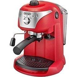 デロンギ ≪エスプレッソマシン兼用≫コーヒーメーカー EC221R レッド