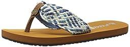 Reef Little Mallory Scrunch Kids sandal (Toddler/Little Kid/Big Kid), Indigo Multi, 13/1 M US Little Kid