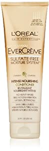 L'Oreal Paris EverCreme Sulfate-Free Moisture System Intense Nourishing Conditioner, 8.5 Fluid Ounce
