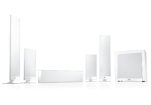 KEF T205 - Sistema 5.1 ultradelgado, color blanco