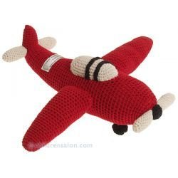 Crocheting On A Plane : Anne Claire Petit Red Crochet Airplane Toy: Amazon.co.uk: Baby