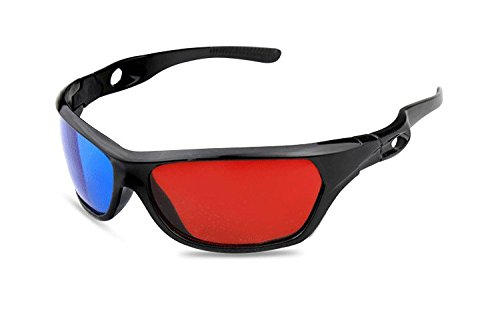 10x 3D Glasses Frame Red Blue For Dimensional Anaglyph Movie Game DVD GU