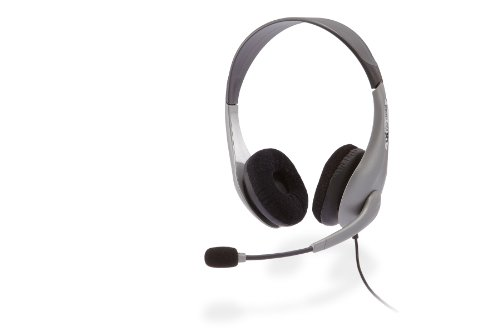 Cyber Acoustics Ac-404 Stereo Headset And Boom Mic With Pc Y-Adapter