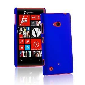 Generic Rubberised Frosted Snap On Hard Back Case Cover For Nokia Lumia 720 - Deep Blue