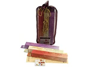 Autumn Ivy Gift Bag - 3 Boxes of Shoyeido Incense and Holder