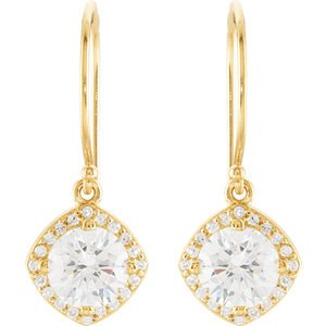 14K Yellow Gold PAIR 2 1/3 CT TW DIAMOND EARRINGS 2 1/5 Ct Tw Earrings