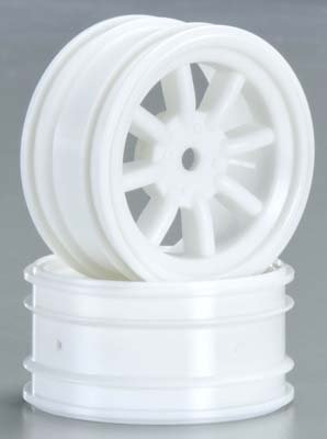 HPI 3930 MX60 8-Spoke Wheel 0mm Offset White (2) - 1