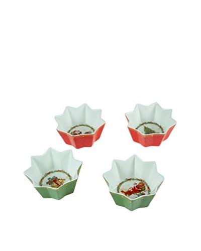 Set Cuenco 4 Uds. Navidad Rojo/Verde
