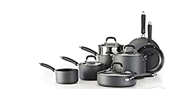 Tramontina 12-Piece Gourmet Hard Anodized Cookware Set