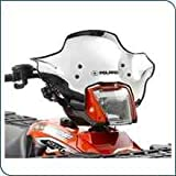 31ai8cDhHNL. SL160  New Genuine Polaris ATV Accessories / Lock and Ride Chrome Low Profile Windshield Sportsman / pt # 2875805