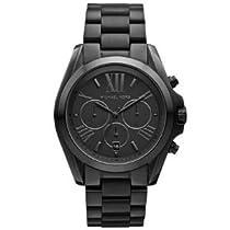 Hot Sale Michael Kors Bradshaw Chronograph Black Dial Black Ion-plated Mens Watch MK5550
