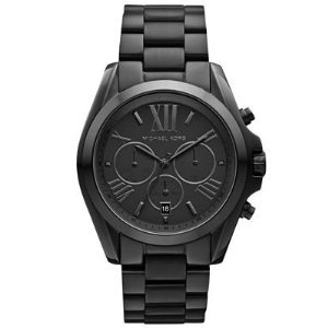 Michael Kors Bradshaw Chronograph Black Dial Black Ion-plated Unisex Watch MK5550